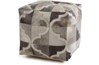 Kayoom Lavish Pouf 310 Grau /  Silber 45 x 45 cm
