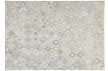 Kayoom Lederteppich Spark 110 Grau /  Silber