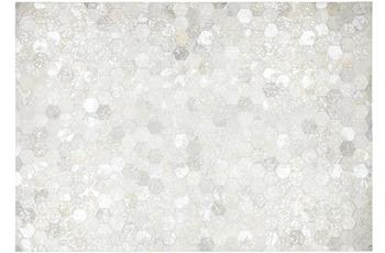 Kayoom Lederteppich Spark 210 Grau /  Silber