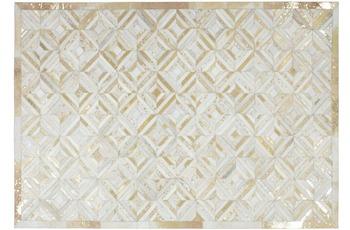Kayoom Lederteppich Spark 410 Elfenbein /  Gold