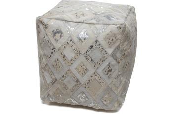 Kayoom Spark Pouf 100 Grau /  Silber 45 x 45 cm