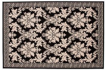 Kayoom Teppich Funky 1068 Creme /  Schwarz