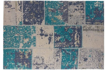 Kayoom Teppich Matrix 210 Türkis 240 x 300 cm