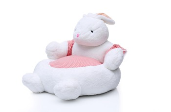 Kayoom Plüschsessel Bunny 207 Weiß /  Pink