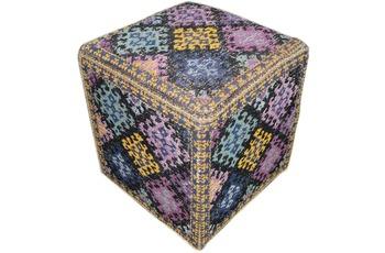 Kayoom Pouf Solitaire 110 Multi 42 cm (B) x 42 cm (H) x 45 cm (T)