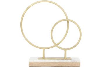 Kayoom Skulptur Amaro 1287 Gold /  Weiß