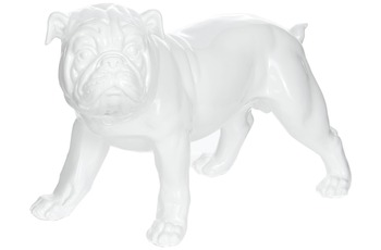 Kayoom Skulptur Bulldog 21-J Weiß