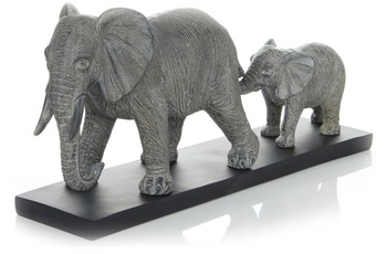 Kayoom Skulptur Elephant Family 110 Grau
