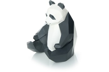 Kayoom Skulptur Panda 110 Weiß /  Schwarz