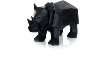 Kayoom Skulptur Rhino 110 Schwarz