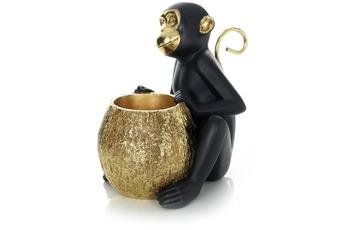 Kayoom Skulptur Sitting Monkey 110 Gold /  Schwarz