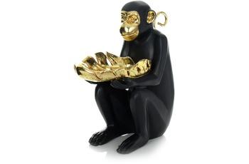 Kayoom Skulptur Sitting Monkey 410 Gold /  Schwarz