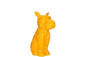 Kayoom Skulptur Terrier I 120 Gelb