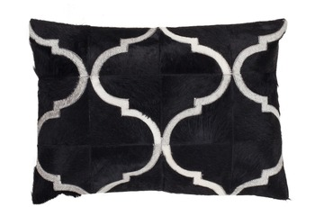 Kayoom Lederkissen Lavish Pillow 310 Schwarz