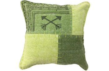 Kayoom Sofakissen Lyrical Pillow 210 Multi /  Grün 45 x 45 cm