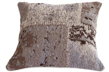 Kayoom Sofakissen Matrix Pillow 110 Beige /  Braun 45 x 45 cm