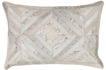 Kayoom Lederkissen Spark Pillow 410 Elfenbein /  Gold