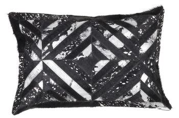 Kayoom Lederkissen Spark Pillow 410 Schwarz /  Silber