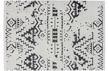 Kayoom Teppich Agadir 110 Weiß /  Schwarz 120 x 170 cm