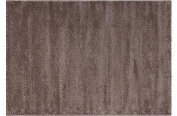 Kayoom Hochflor-Teppich Castries Hellbraun 80cm x 150cm