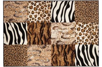 Kayoom Patchwork-Teppich Chicago Beige 60cm x 110cm