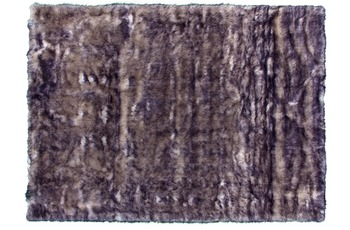 Kayoom Kunstfell-Teppich Crown 110 Weiß /  Petrol