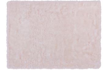 Kayoom Kunstfell-Teppich Crown 110 Weiß /  Puderrosa
