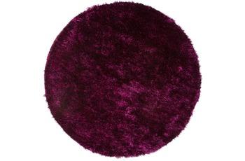 Kayoom Hochflor-Teppich Diamond 700 Violett /  Schwarz