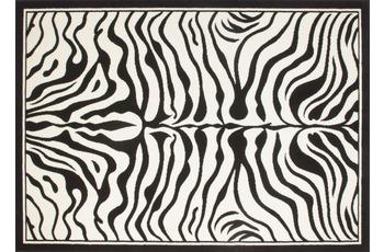 Kayoom Teppich USA - Housten Schwarz /  Weiß