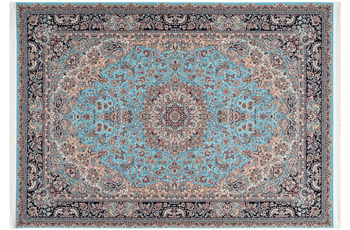 Kayoom Teppich Kuwait - Abdali Blau 240 x 330 cm