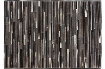 Kayoom Leder-Teppich Lavish 110 Grau-Braun