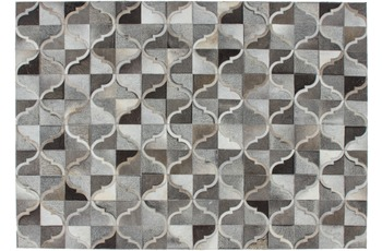 Kayoom Leder-Teppich Lavish 310 Grau