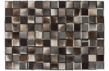 Kayoom Leder-Teppich Lavish 410 Grau
