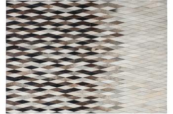 Kayoom Leder-Teppich Lavish 510 Grau