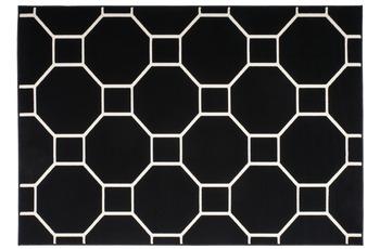 Kayoom Patchwork-Teppich Lina 100 Schwarz /  Elfenbein