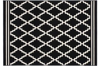 Kayoom Patchwork-Teppich Lina 200 Schwarz /  Elfenbein