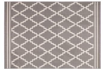 Kayoom Patchwork-Teppich Lina 200 Taupe /  Elfenbein