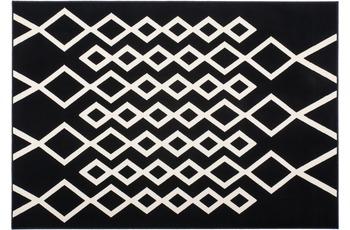 Kayoom Patchwork-Teppich Lina 400 Schwarz /  Elfenbein