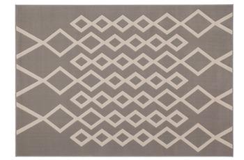 Kayoom Patchwork-Teppich Lina 400 Taupe /  Elfenbein