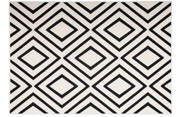 Kayoom Patchwork-Teppich Lina 500 Elfenbein /  Schwarz