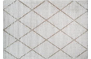Kayoom Viskose-Teppich Luxury 210 Elfenbein /  Taupe