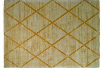 Kayoom Viskose-Teppich Luxury 210 Gelb
