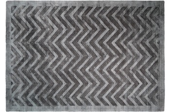 Kayoom Viskose-Teppich Luxury 410 Grau /  Anthrazit