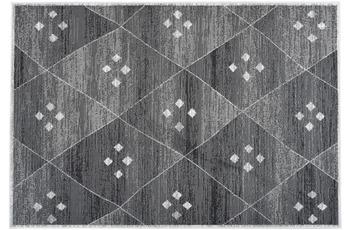 Kayoom Teppich Mandela 110 Grau /  Weiß 80cm x 150cm