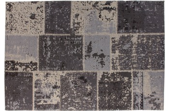 Kayoom Patchwork-Teppich Matrix 110 Schwarz /  Grau
