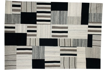 Kayoom Patchwork-Teppich Radical 325 Grau /  Multi