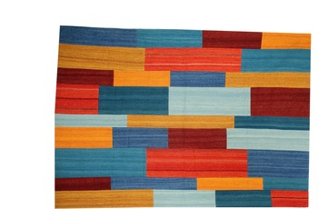 Kayoom Patchwork-Teppich Radical 335 Rot /  Multi