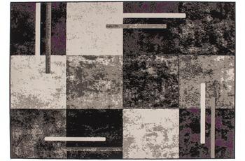 Kayoom Patchwork-Teppich Rohullah 1010 Grau /  Elfenbein 190cm x 280cm