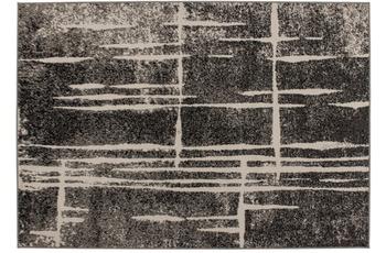 Kayoom Patchwork-Teppich Rohullah 3010 Grau /  Elfenbein