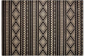 Kayoom Jute-Teppich Scandy 110 Schwarz /  Naturell